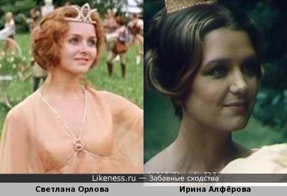 Сказочные принцесса и королева