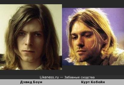 Боуи похож на Кобейна