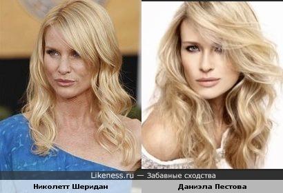 Даниэла Пестова похожа на Николетт Шеридан