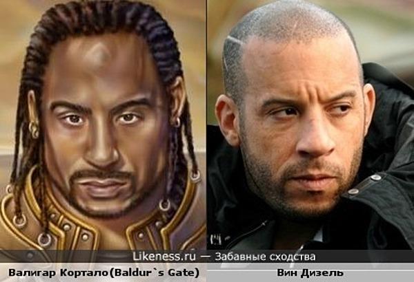 Персонаж из игры Baldur`s Gate Валигар Кортало похож на Вин Дизеля