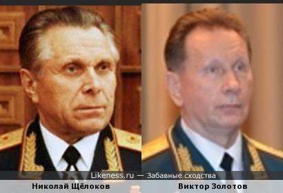 генерал армии Золотов (ВВ) похож на генерала армии Щёлокова (МВД)