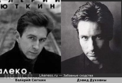 Валерий Сюткин похож на Дэвида Духовны