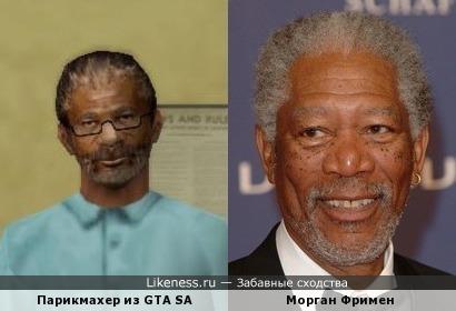 Схожесть известного актёра и не менее известного парикмахера.