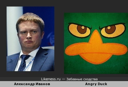 Александр Иванов похож на Angry Duck