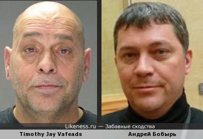 Американский преступник Тимоти Джей Вэйфедс похож на пилота Аэрофлота Андрея Бобыря