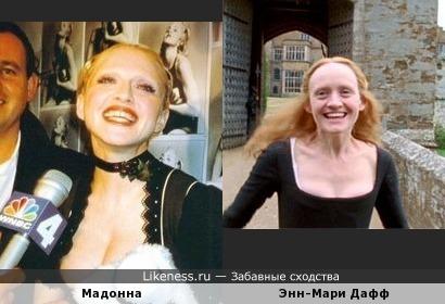 Мадонна похожа на накрашенную королеву-девственницу