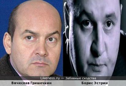 Вячеслав Гришечкин походит на Бориса Эстрина
