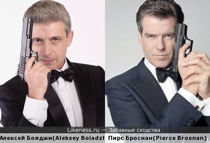 Алексей Бояджи и Пирс Броснан здесь явно похожи