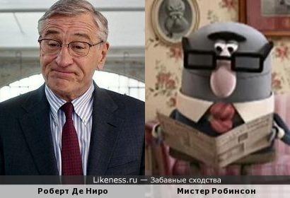 Роберт Де Ниро похож на персонажа мультфильма
