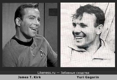 Джеймс Кирк похож на Юрия Гагарина