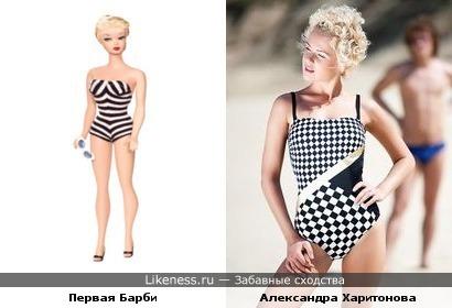 "Александра Харитонова похожа на ""самую первую"" куклу Барби"