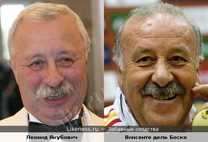 Винсенте дель Боске и Леонид Якубович похожи