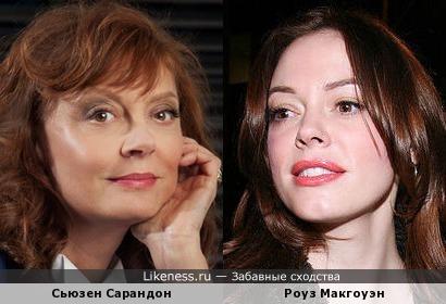 Сьюзен Сарандон и Роуз Макгоуэн