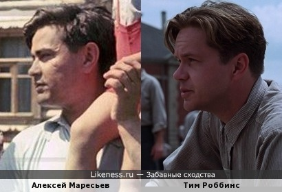 Тим Роббинс похож на Алексея Петровича Маресьева