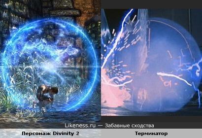 Персонаж игры Divinity 2 и Терминатор