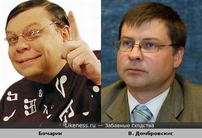 Премьер-министр Латвии Валдис Домбровскис похож на Бочарика