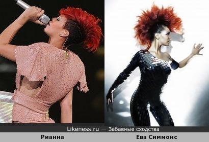 Ева Симмонс похожа на Рианну