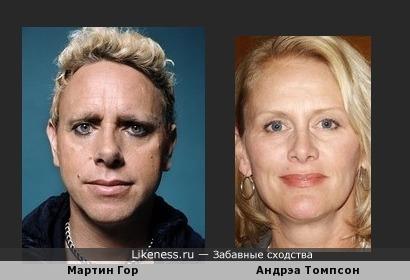 Мартин Гор (Depeche Mode) похож на Андрэа Томпсон (Талия Винтерс из Вавилон 5)