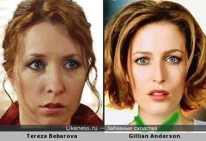 Чешская актриса Tereza Bebarova похожа на Gillian Anderson