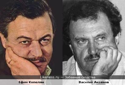 Ефим Копелян похож на Василия Аксенова