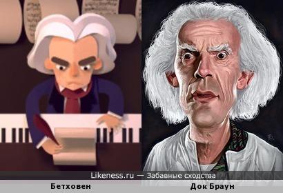 Дудл Бетховена похож на Дока Брауна