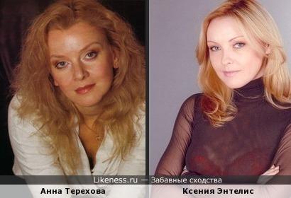 Ксения Энтелис похожа на Анну Терехову