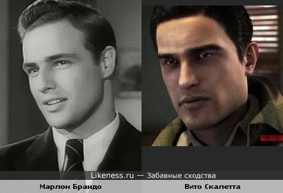 Вито Скалетта из игры Мафия 2 похож на молодого Марлона Брандо