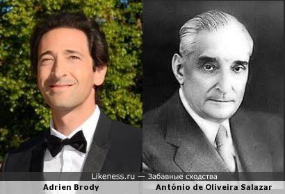 Эдриен Броуди похож на Антониу ди Оливейра Салазар