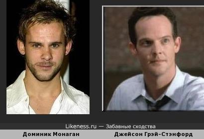 Доминик Монагaн из Властелина Колец похож на Джейсона Грэй-Стэнфорда из Детектива Монк