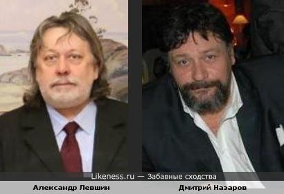 """Гитарист группы """"Рецитал"""" Александр Левшин и актер Дмитрий Назаров"""