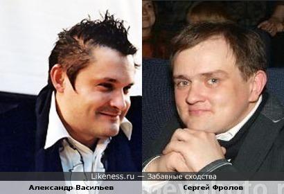 Модельер Александр Васильев и актер Сергей Фролов