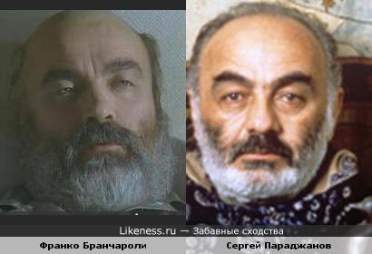Франко Бранчароли и Сергей Параджанов