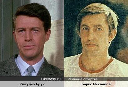 Актер Клаудио Брук и хоккеист Борис Михайлов