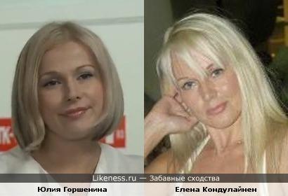 Юлия Горшенина и Елена Кондулайнен