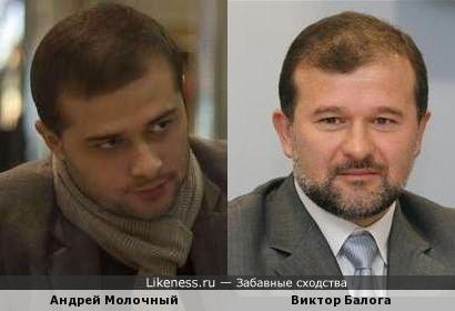 Андрей Молочный и Виктор Балога