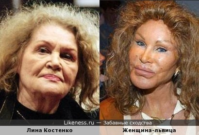 Лина Костенко и Женщина-львица
