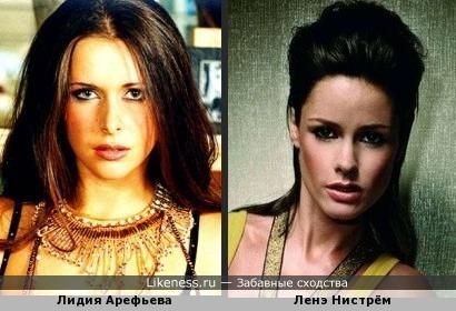 Лидия Арефьева похож на Ленэ Нистрём