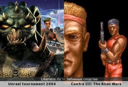 Обложка из Unreal tournament 2004 схожа на момент из Contra III