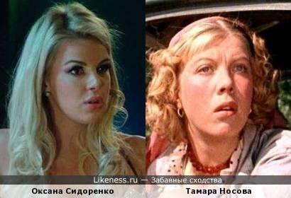 Оксана Сидоренко похож на Тамара Носова