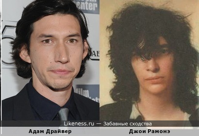 Адам Драйвер похож на Джои Рамонэ (Ramones)