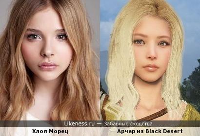 Хлоя Грейс Морец похожа на героя из игры