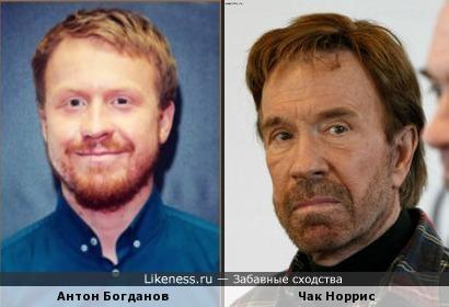 Антон Богданов похож на Чака Норриса