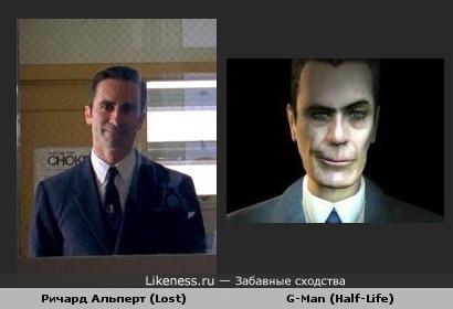 Ричард Альперт из сериала LOST похож на G-Man из Half-Life