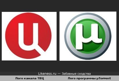Лого канала ТВЦ похоже на лого программы µTorrent