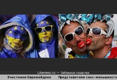 Участники Евромайдана похожи на представителей секс-меньшинств