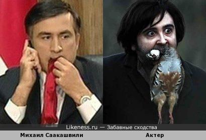 """Михаил Саакашвили похож на актера фильма """"Печальная баллада для трубы"""""""