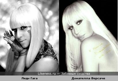 Леди Гага похожа на Донателлу Версаче