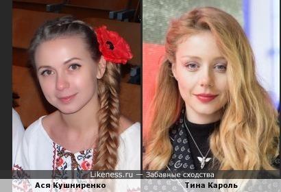 Ася Кушниренко похожа на Тину Кароль