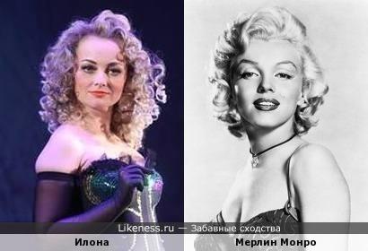 Актриса Илона Казакевич похожа на Мерлин Монро