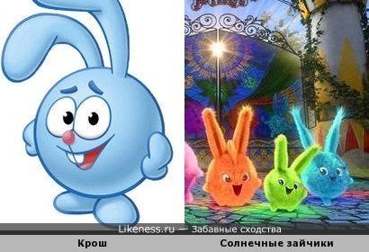 Чем заяц на кролика походит
